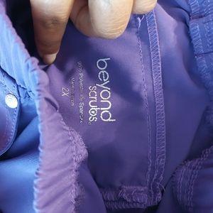Purple scrub pants